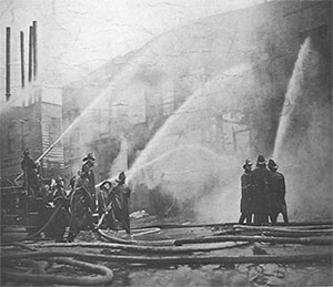 Historic image of Monticello NY firefighters © Monticello FD
