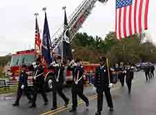 Firefighters march in the annual parade.